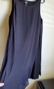 Eileen fisher chiffon panel dress